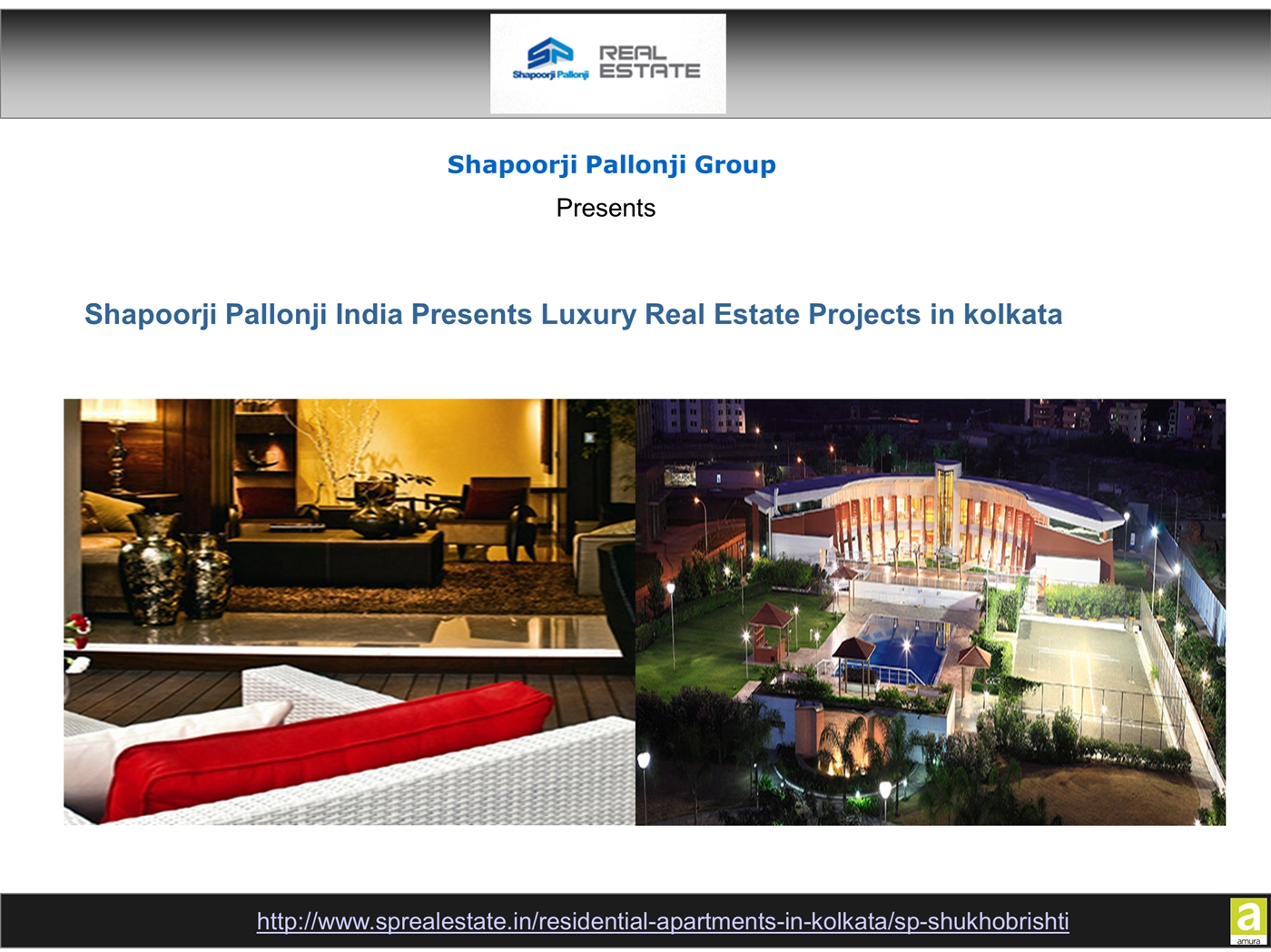 Luxury Real Estate Projects in kolkata by Shapoorji Pallonji ppt