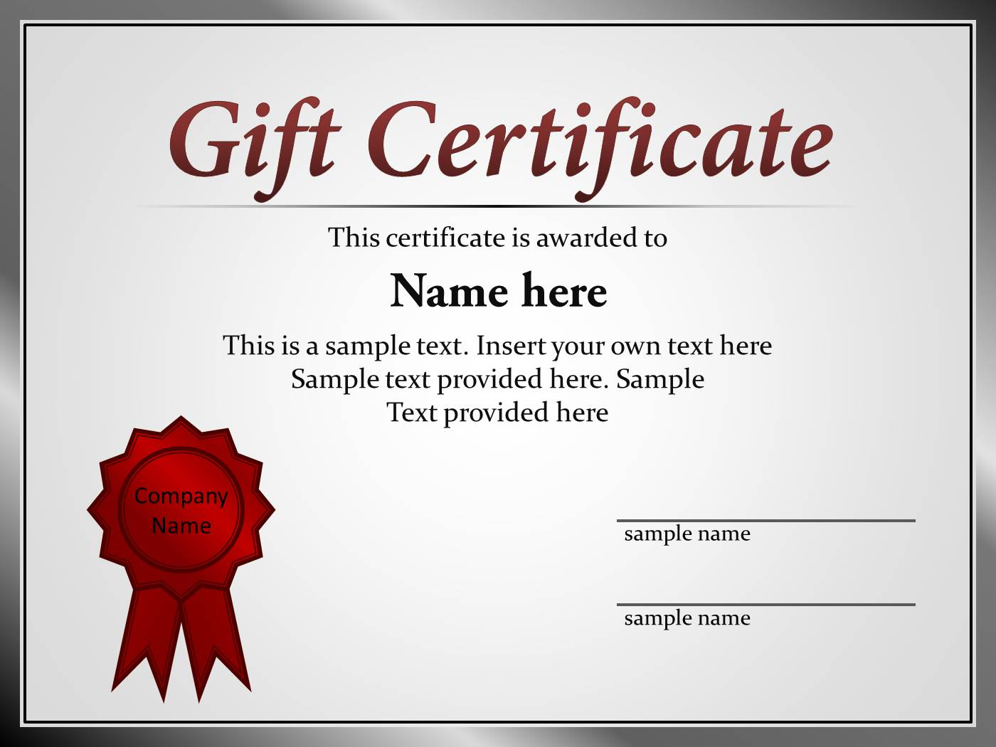Certificate template for powerpoint powerpoint presentation ppt yadclub Images