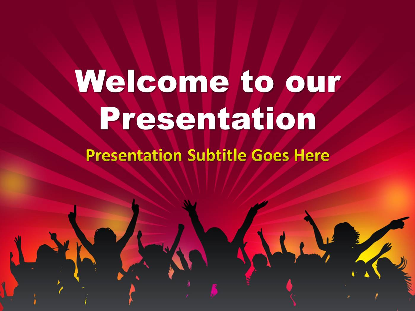 crowd powerpoint template powerpoint presentation ppt, Powerpoint templates