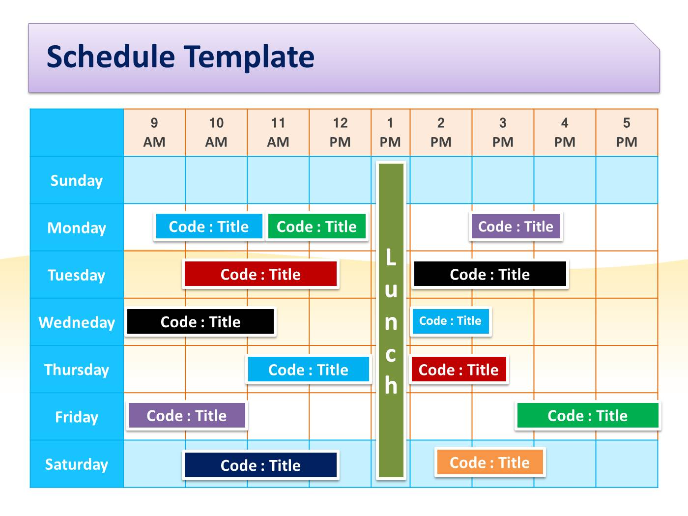 schedule template for powerpoint pptx powerpoint presentation ppt