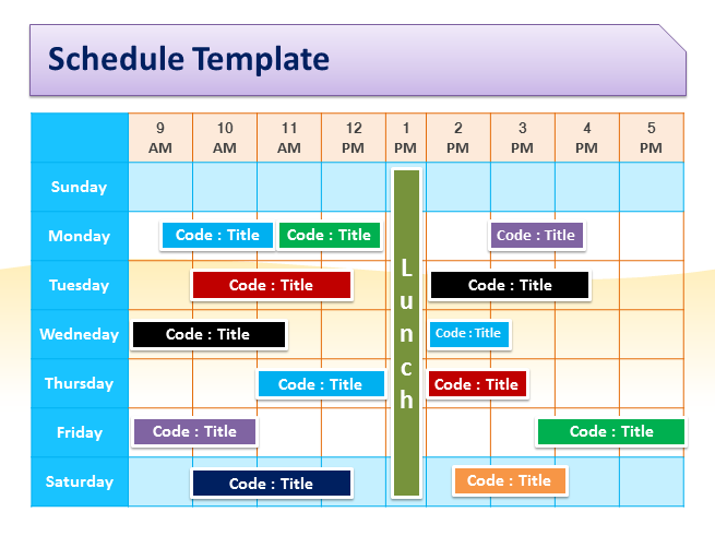 Schedule Template For Powerpoint.pptx
