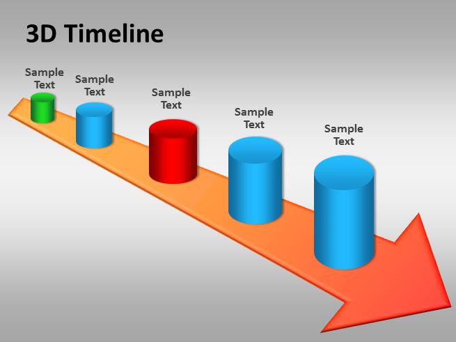 3d timeline powerpoint template powerpoint presentation ppt