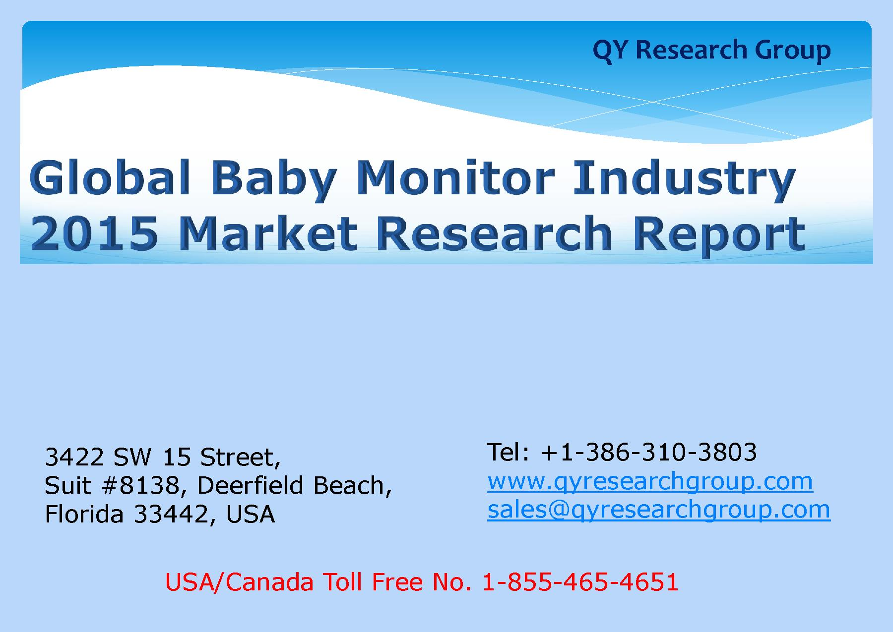 Global Baby Monitor Industry 2015 Market Research Report.pdf ...
