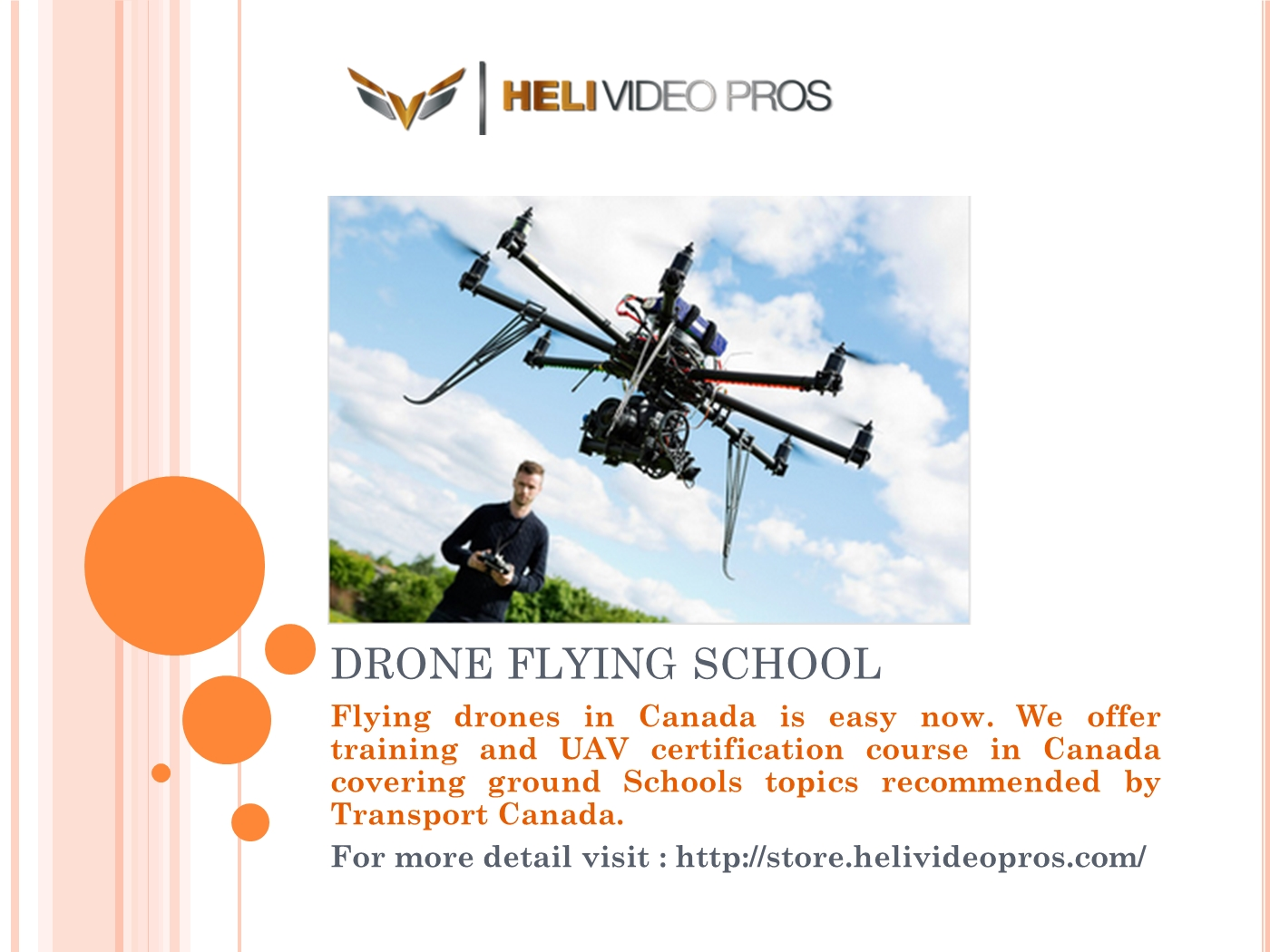 Drone Flying School Powerpoint Presentation Ppt