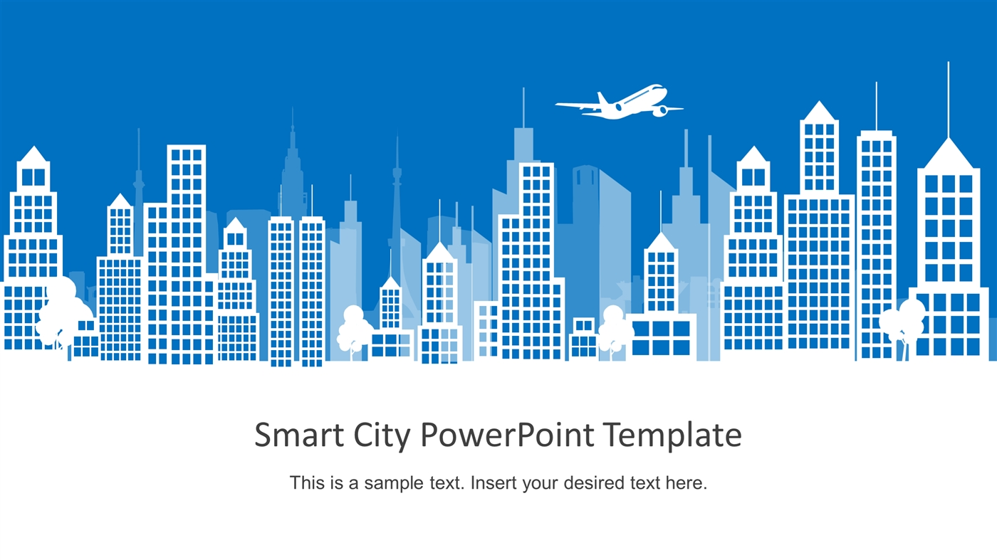 slidemodel - smart city flat design powerpoint template, Powerpoint templates