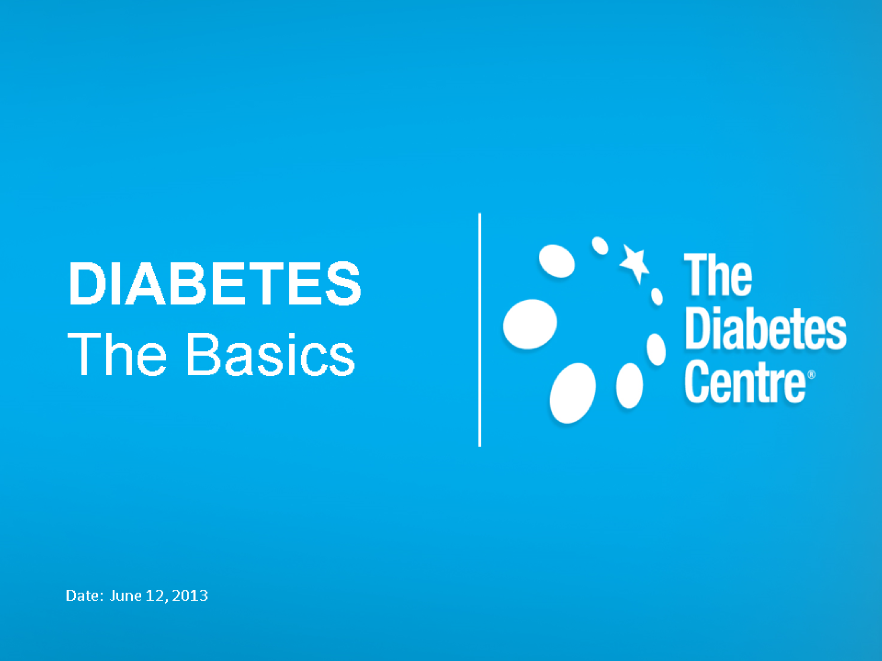 TDC Diabetes Presentation   July 12 2013.pptx
