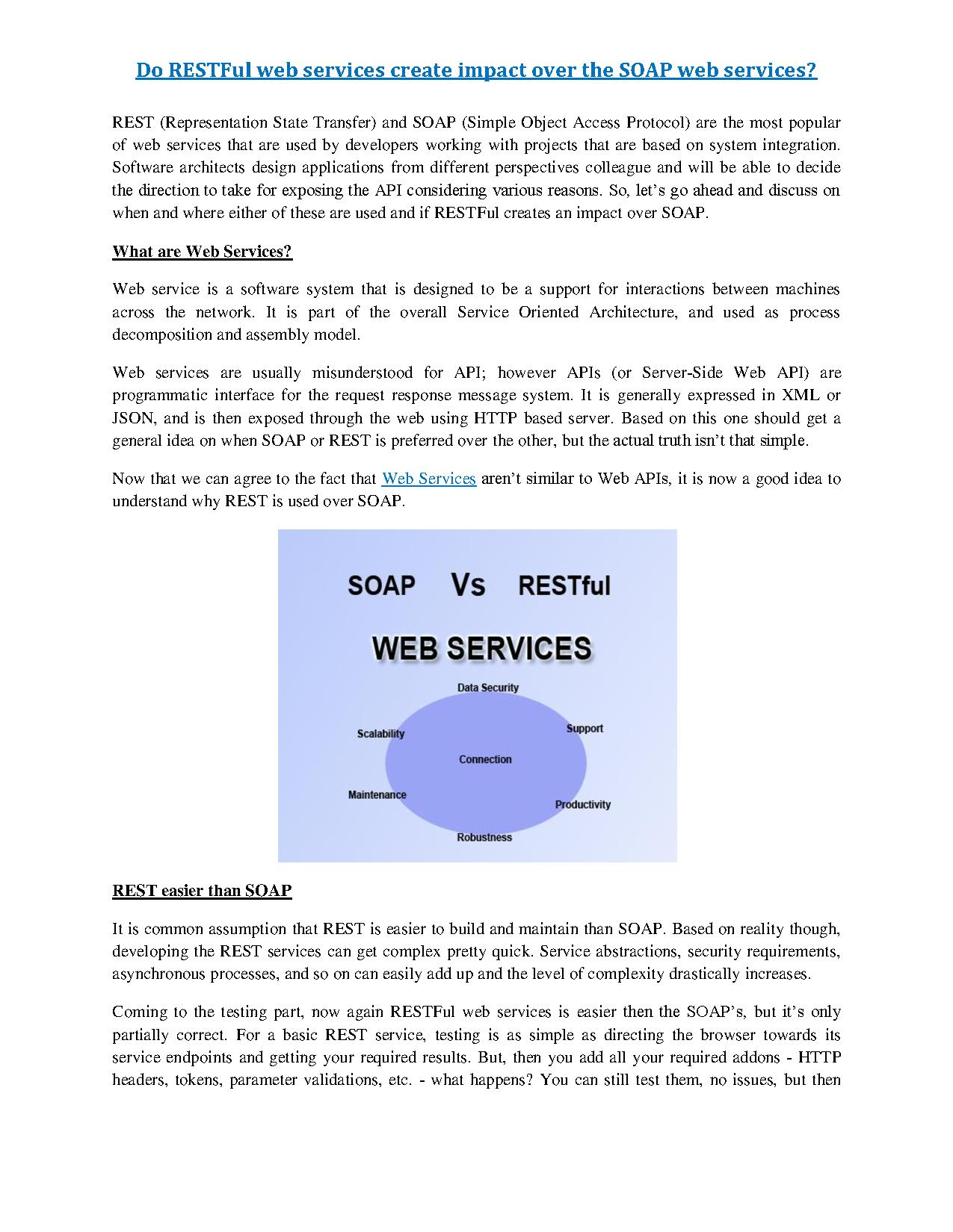 do restful web services create impact over the soap web services pdf