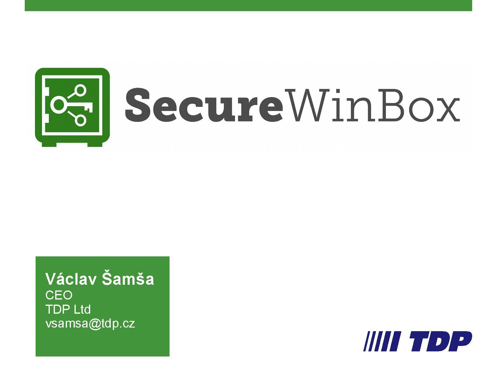 SecureWinBox - overview