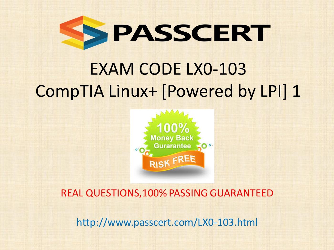 CompTIA Linux+ LX0 103 practice test PowerPoint Presentation PPT