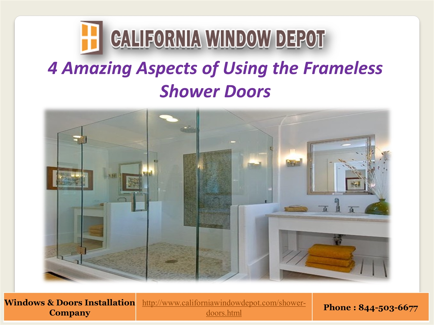 Frameless Shower Doors Los Angeles Powerpoint Presentation Ppt