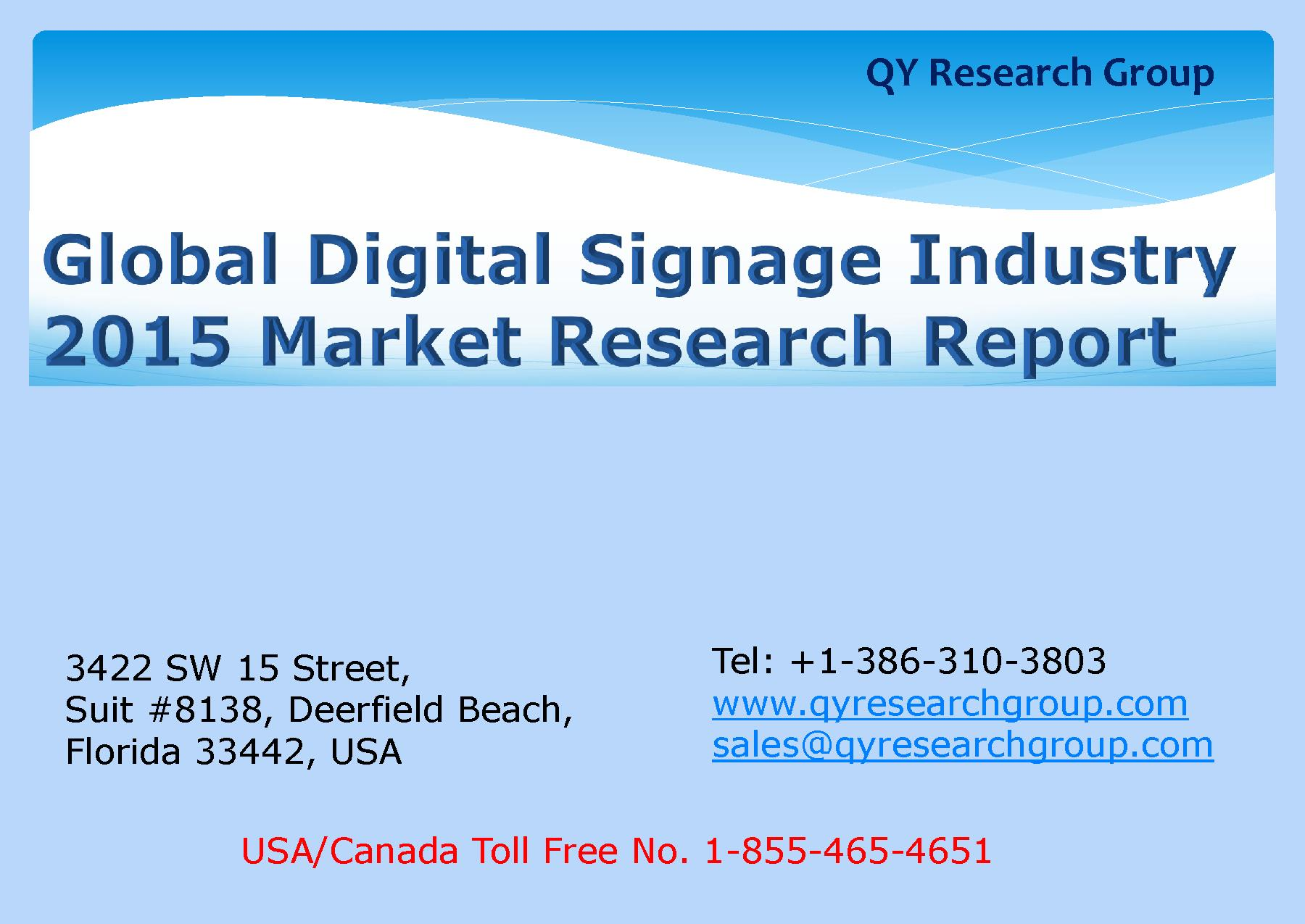 Global Digital Signage Industry 2015 Market Research Report.pdf ...