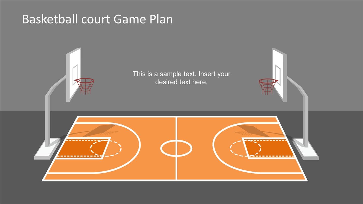slidemodelcom basketball court game plan powerpoint shapes powerpoint presentation ppt