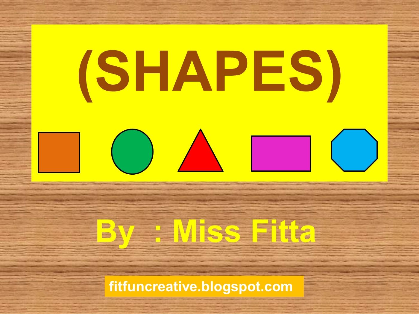 teaching shapes for kindergarten powerpoint presentation ppt