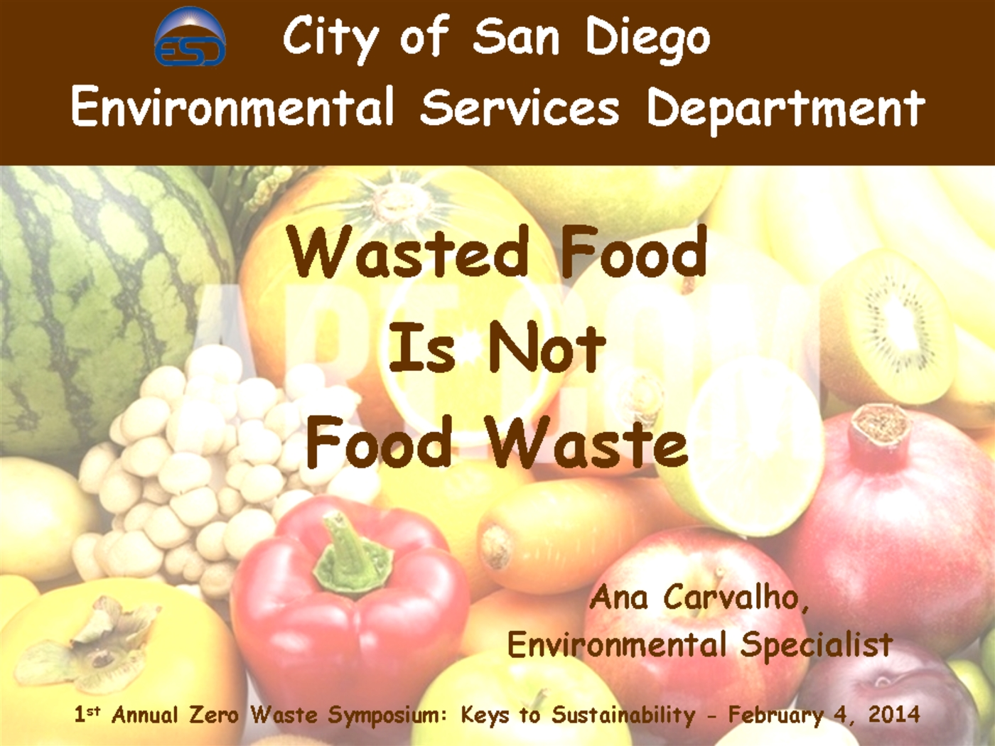 Waste Food Is Not Food Waste Powerpoint Presentation Ppt
