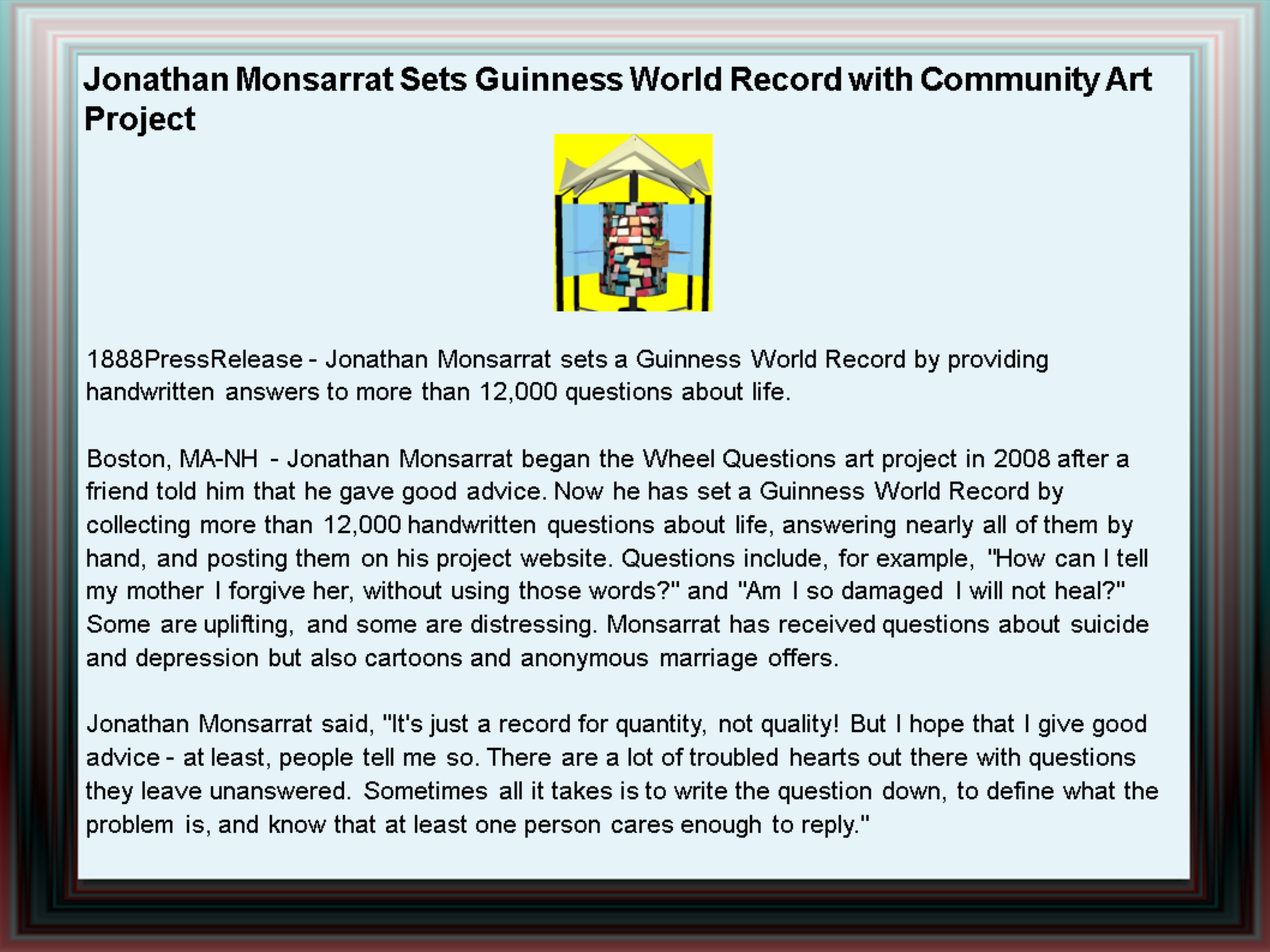 guinness world record certificate template - jonathan monsarrat sets guinness world record with