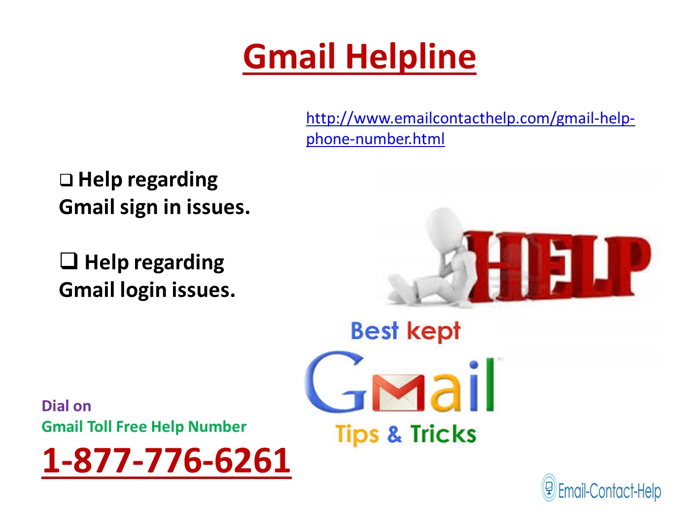 Call gmail toll free helpline number 1 877 776 6261 for instant assistance powerpoint presentation ppt