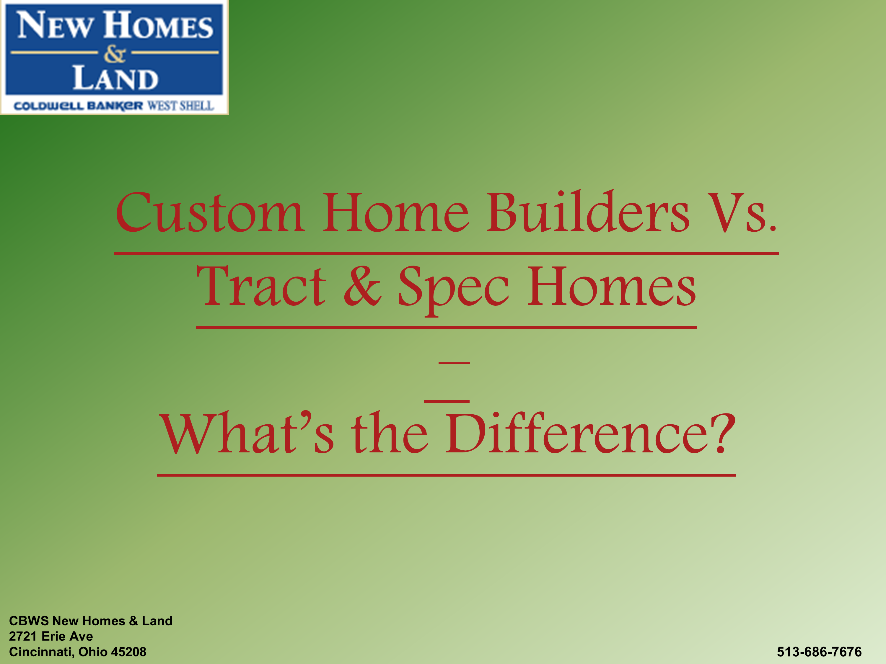 Custom home builders vs tract spec homes what s the for Tract home builders