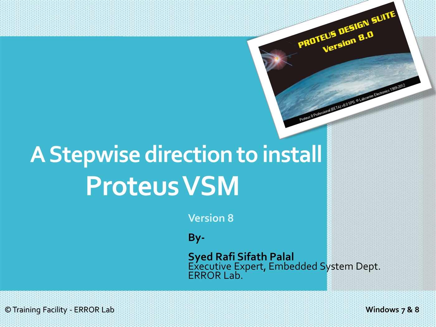 Proteus 8 Installationpptx Powerpoint Presentation Ppt All New Circuit Designing And Simulation Software Blogging