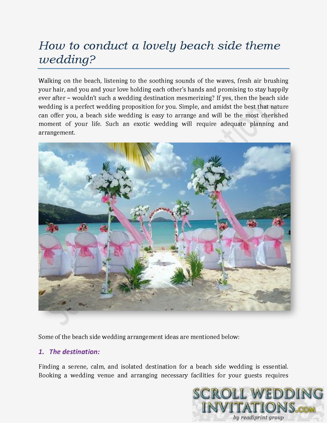 beach side theme wedding powerpoint presentation ppt, Powerpoint templates