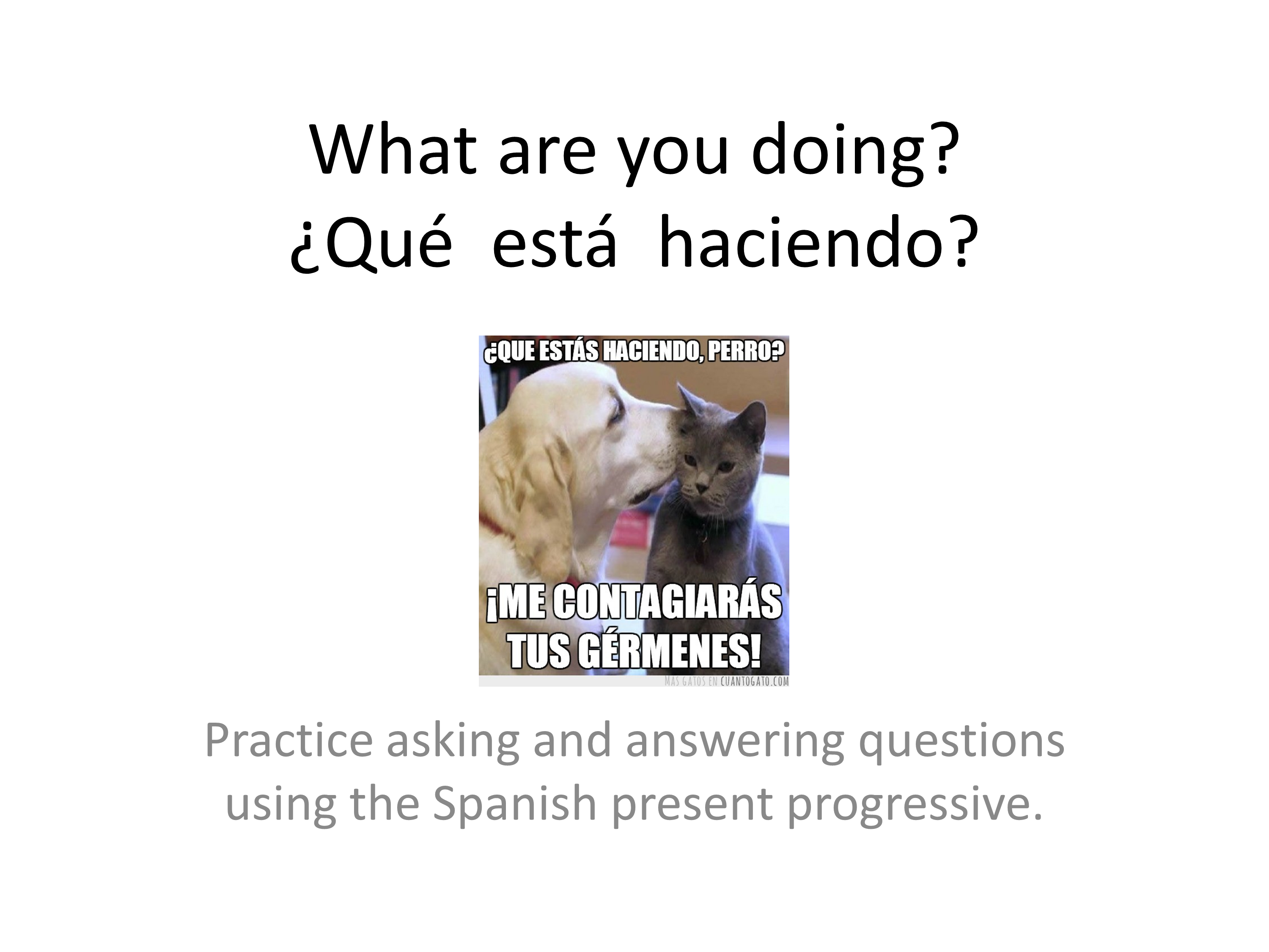 Learn how to use the Spanish Present Progressive Tense