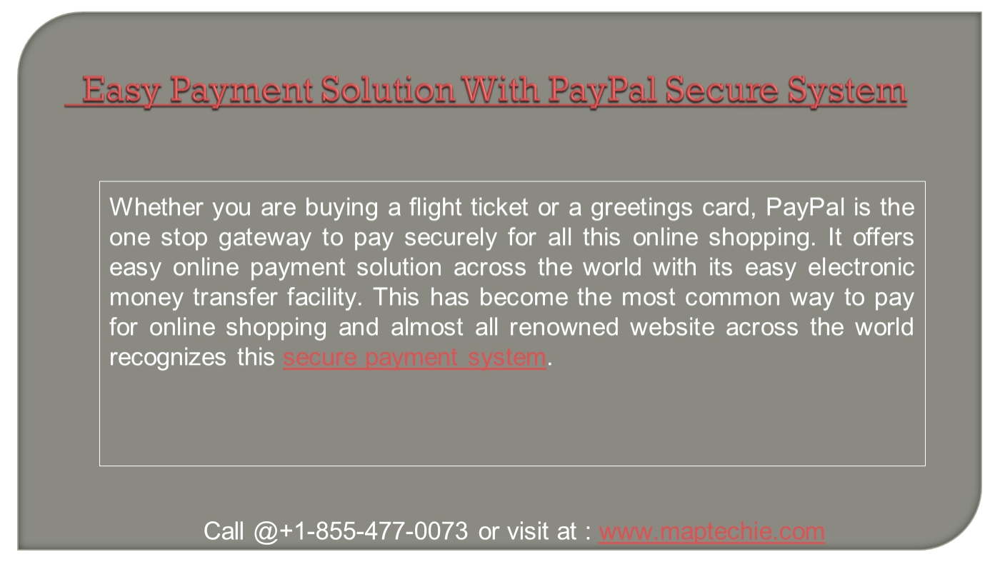Paypal technical support phone number PowerPoint Presentation PPT