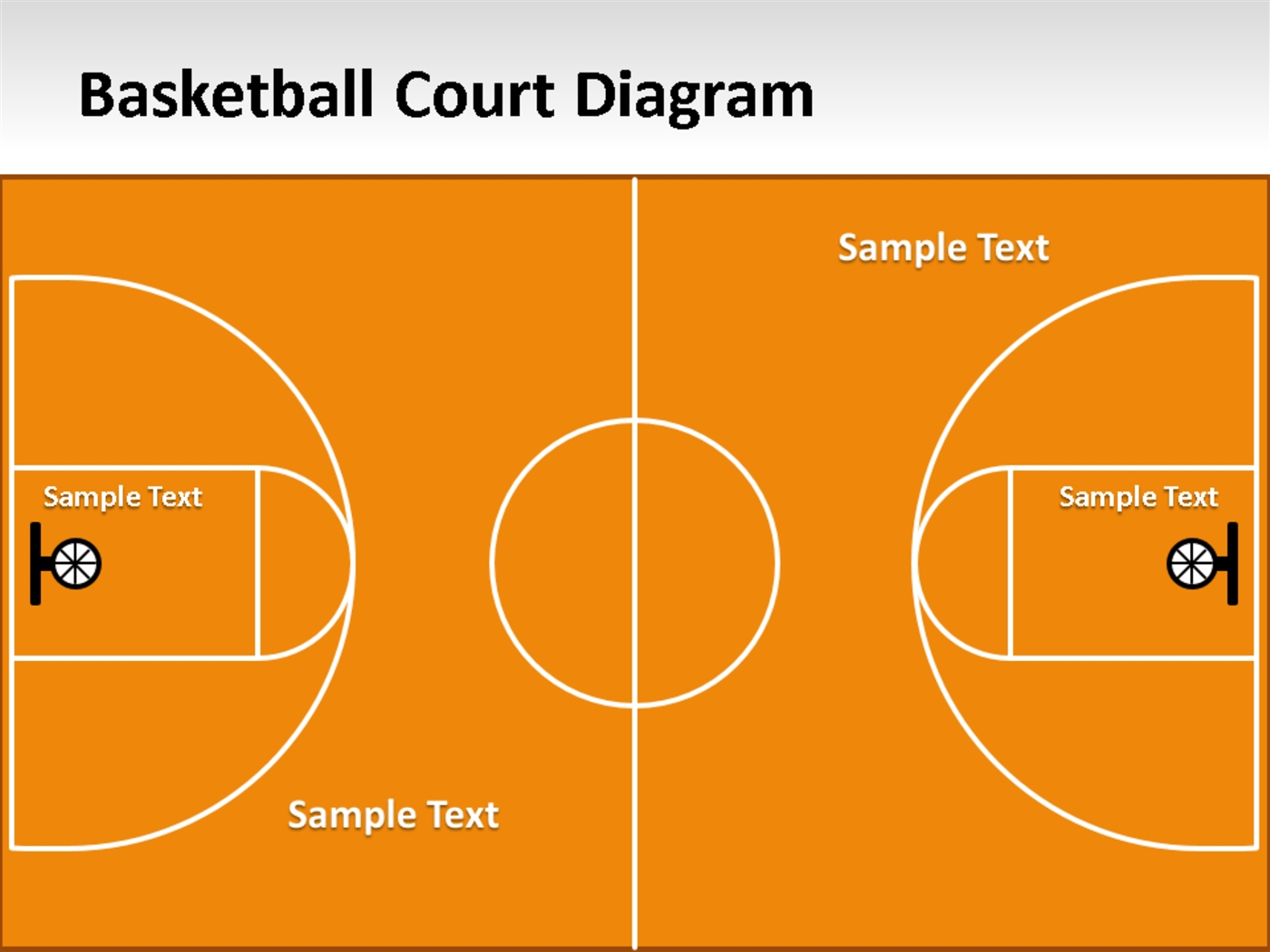 Basketball court diagram for powerpointpptx powerpoint presentation ppt toneelgroepblik Image collections