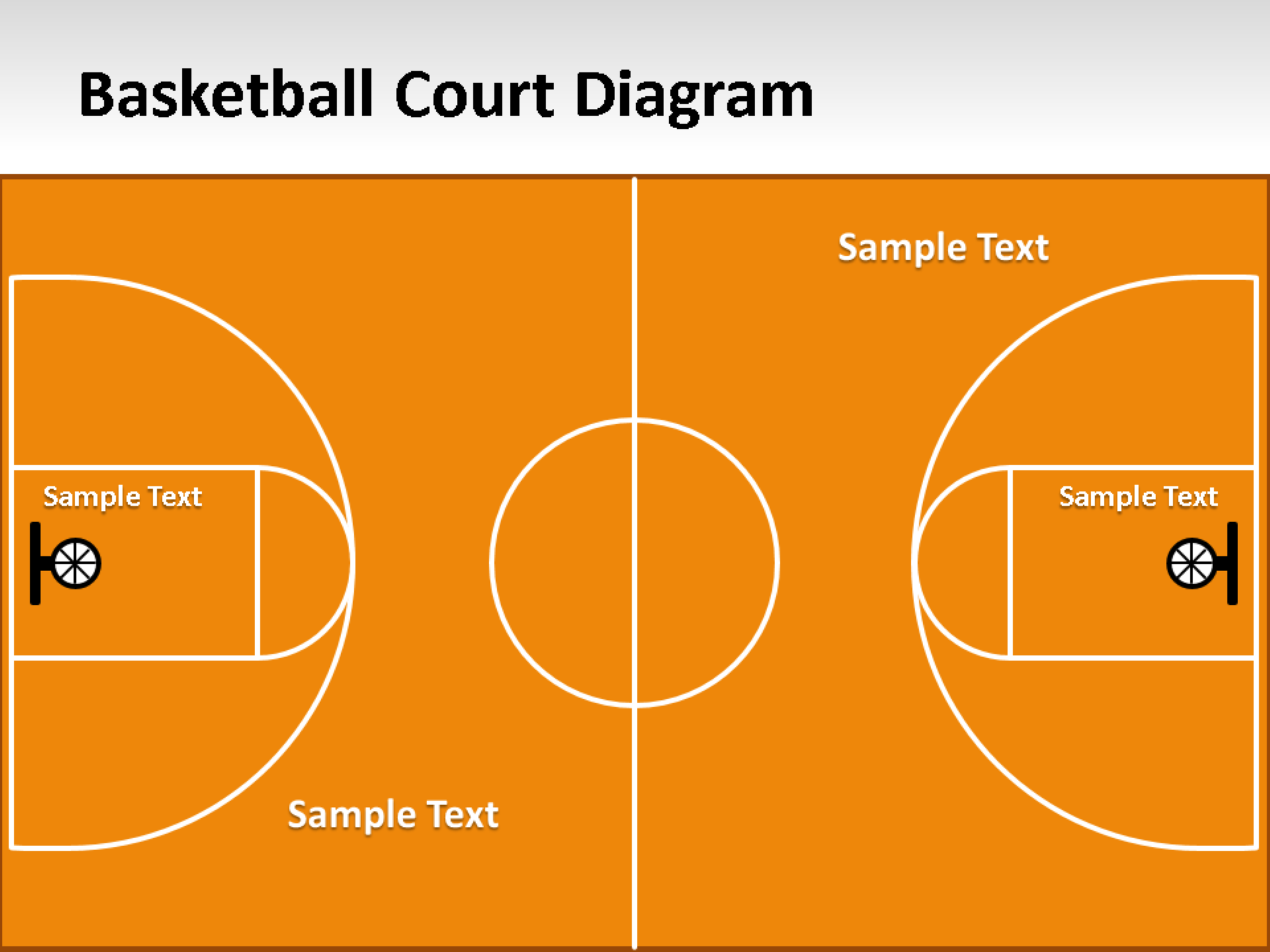 Basketball Court Diagram For Powerpoint.pptx