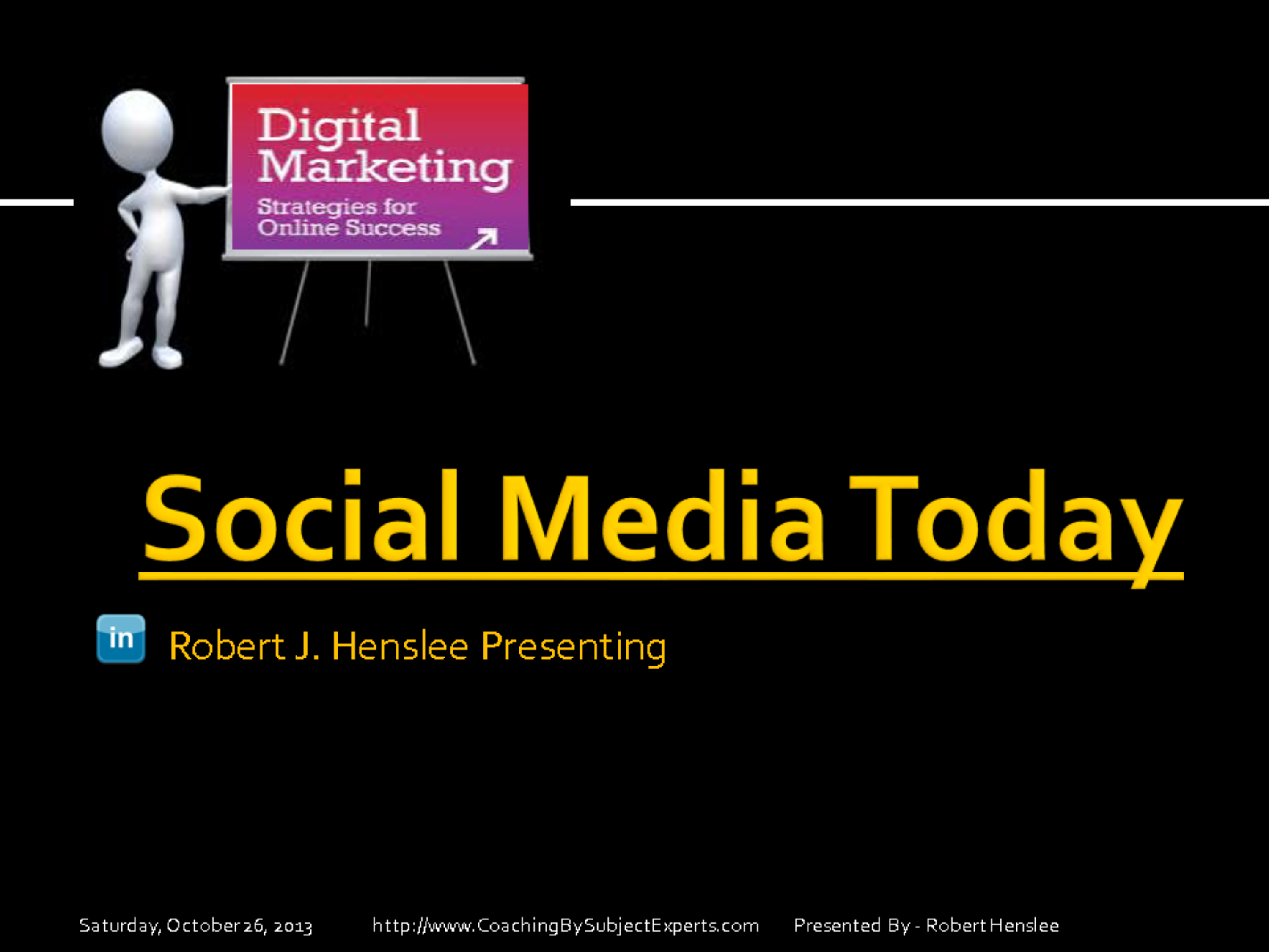 social media today If you've been reading the news headlines about social media for the last few years, you may be tempted to think: the truth is, social media — when used strategically over time — is the most powerful form of marketing and market research the world has ever seen but it's not that's what we're going to talk about today.