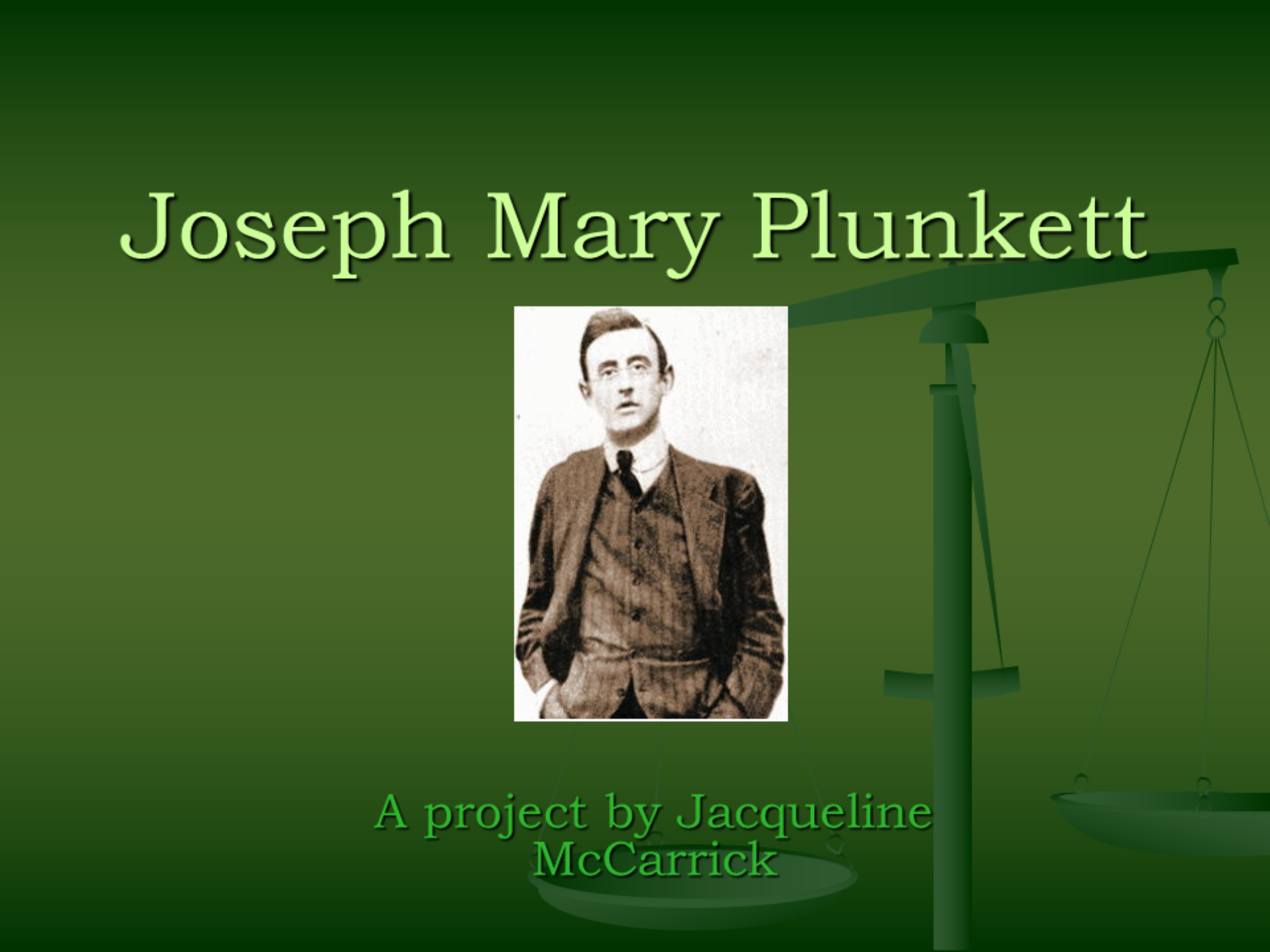 Joseph Mary Plunkett PROJECT.ppt