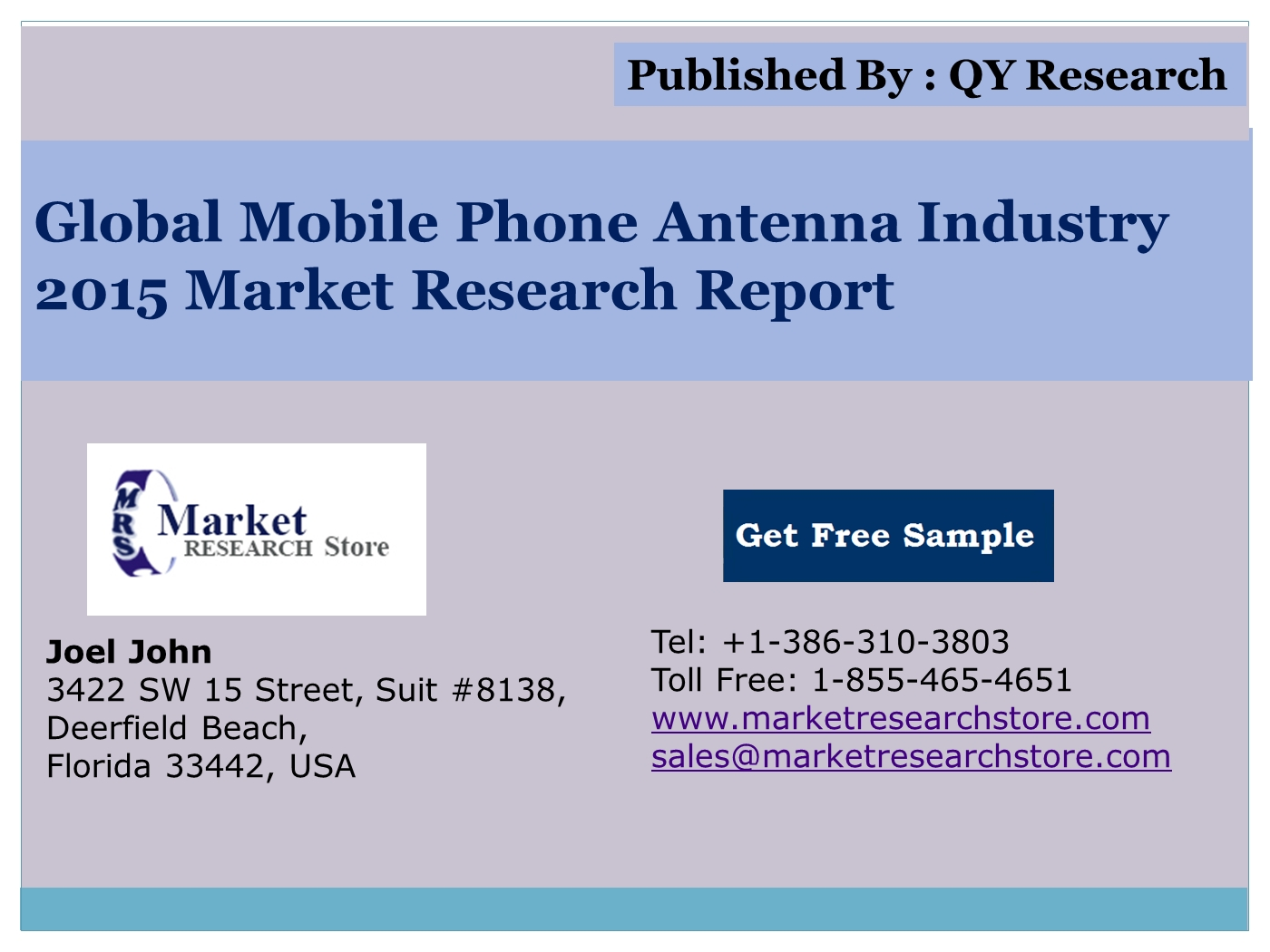 Global Mobile Phone Antenna Market 2015 Industry Trends, Analysis