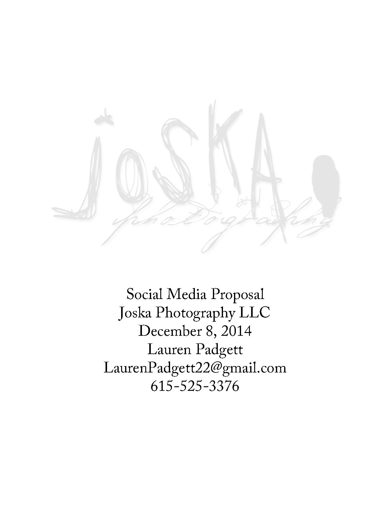Final Social Media Proposal Final Pdf Powerpoint
