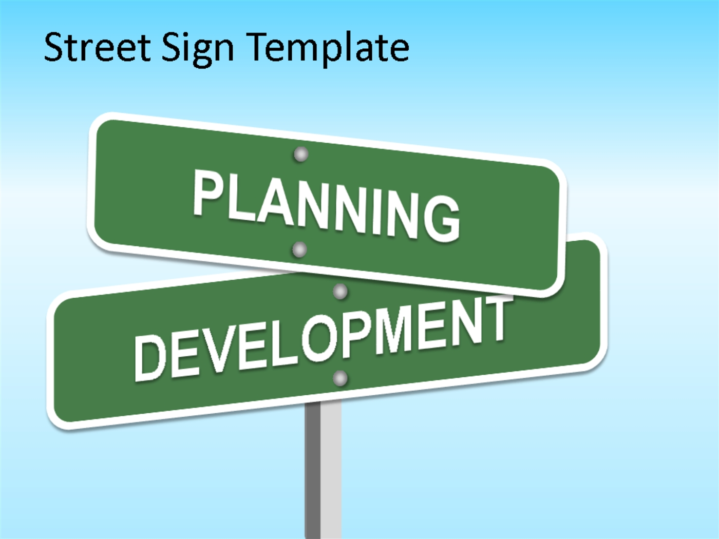 Street Sign Powerpoint Template PowerPoint Presentation PPT - Street sign template