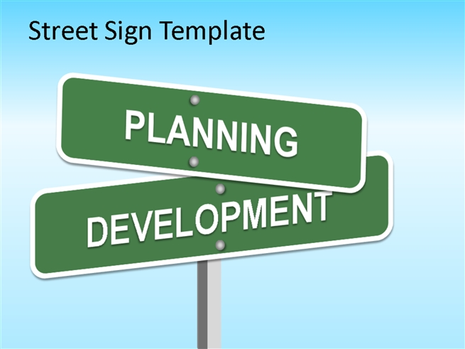 street sign powerpoint template powerpoint presentation ppt. Black Bedroom Furniture Sets. Home Design Ideas