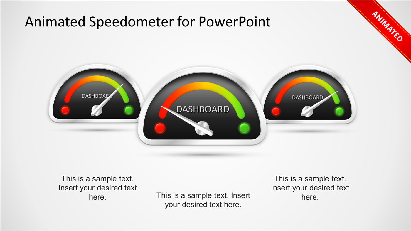 Animated Speedometer Powerpoint Template Powerpoint Presentation Ppt