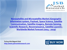jsb market research nanosatellite and Nanosatellite and microsatellite market propelled by huge investments from silicon valley: transparency market research nanosatellite and microsatellite market - global industry analysis, size, share, growth, trends and forecast, 2013 - 2019.