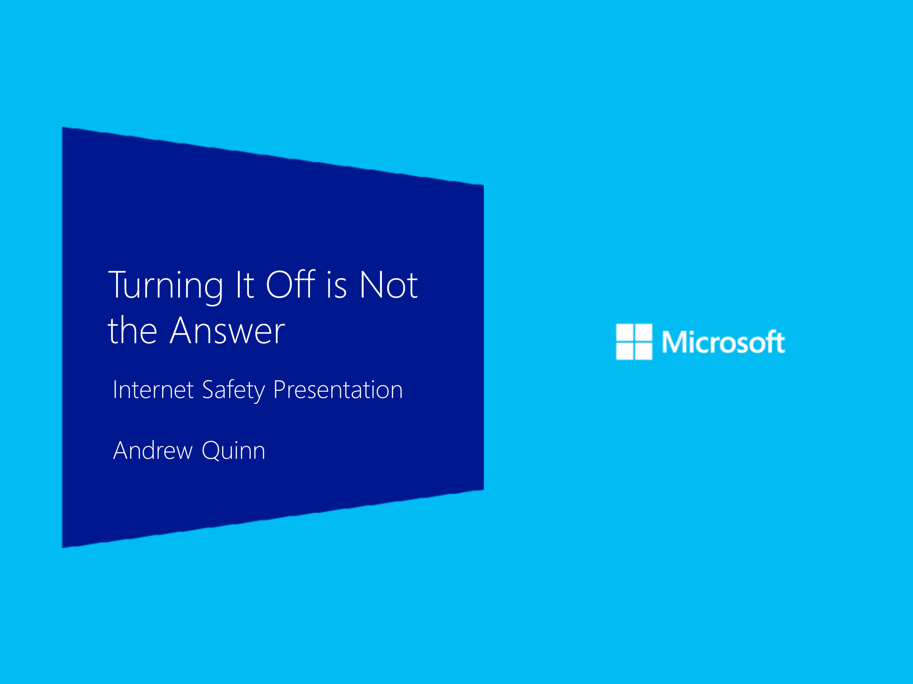 Turning it off is not the answer Feb 2013