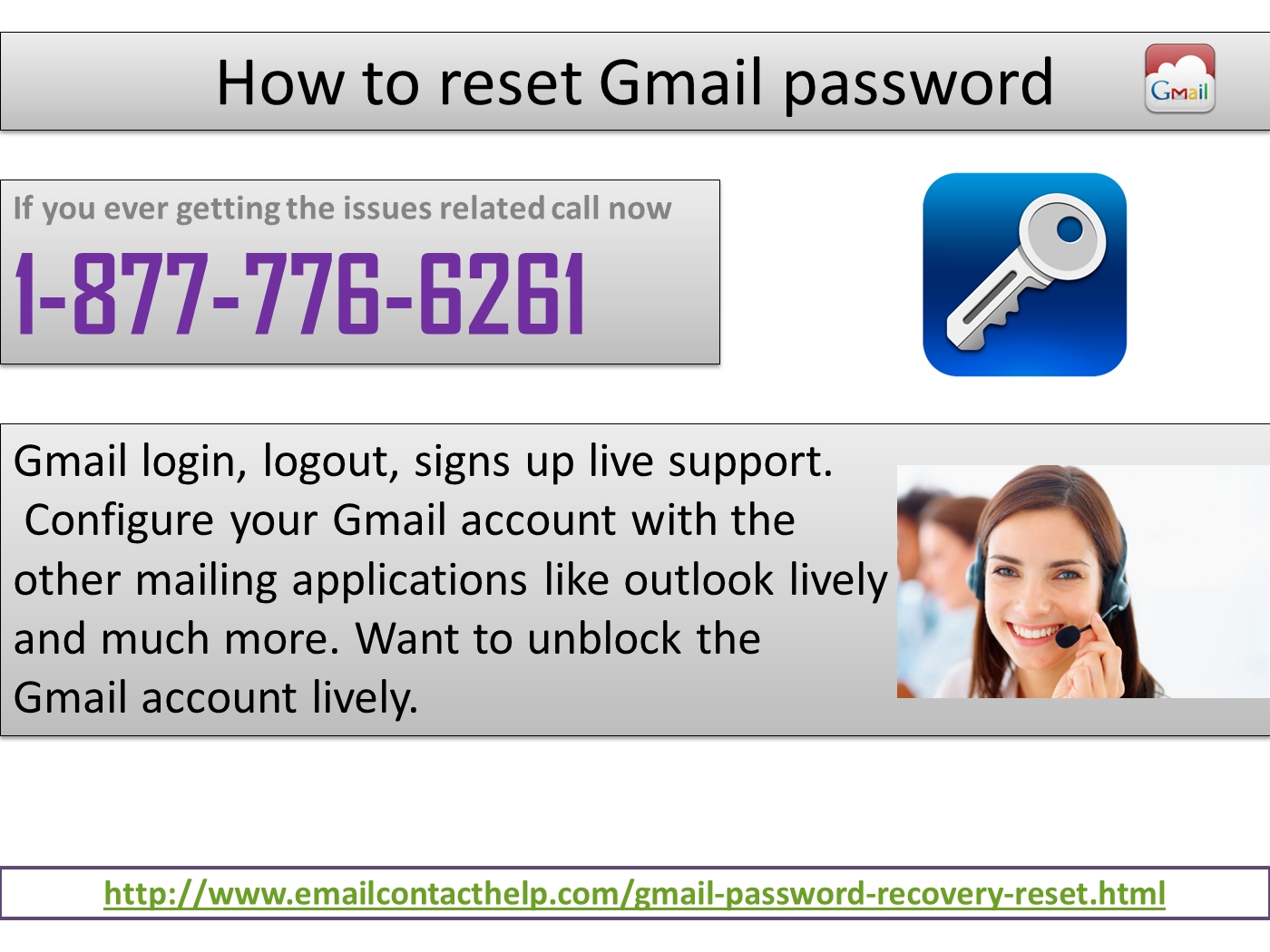 Ring how to reset gmail password 1 877 776 6261 and avail unlimited assistance powerpoint presentation ppt