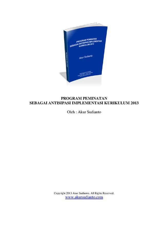 Program Peminatan Implementasi Kurikulum 2013