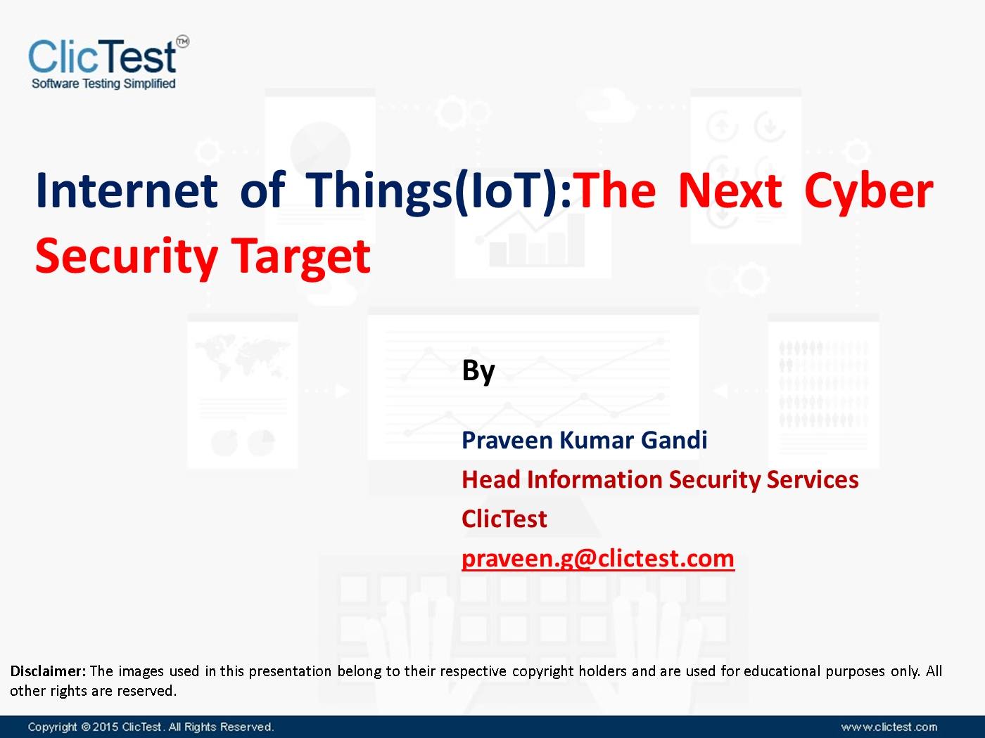 webinar on internet of things(iot): the next cyber security target, Powerpoint templates