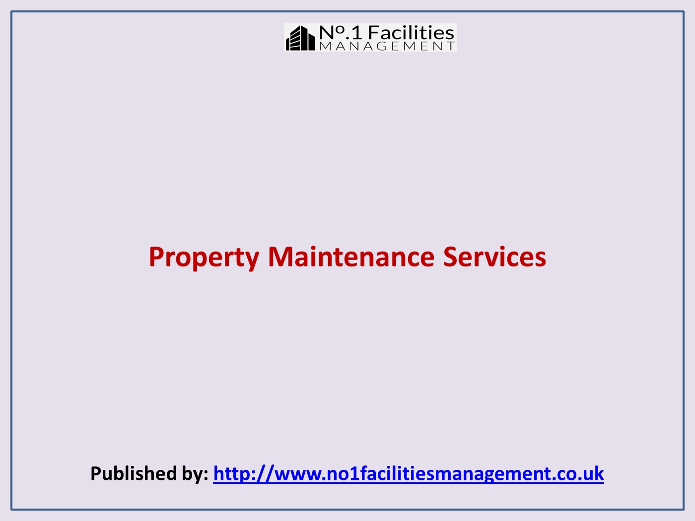 Property Maintenance Services pptx PowerPoint Presentation PPT