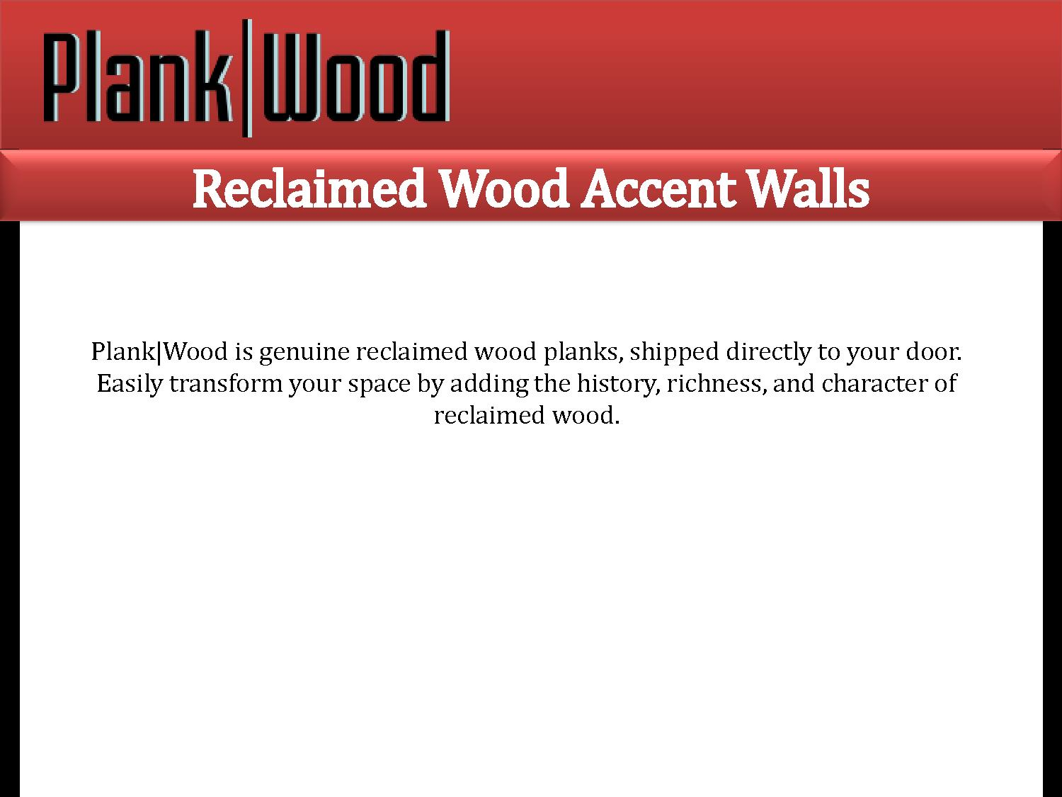 Reclaimed wood accent powerpoint presentation ppt for Reclaimed wood online