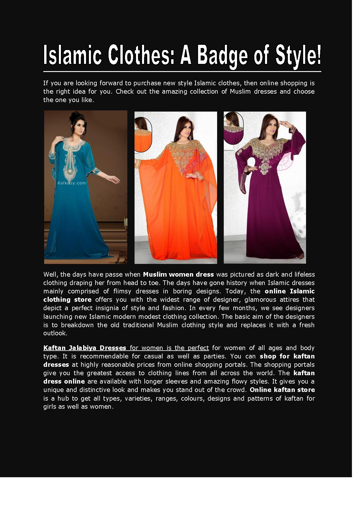 Islamic Clothes A Badge Of Style Powerpoint Presentation Ppt