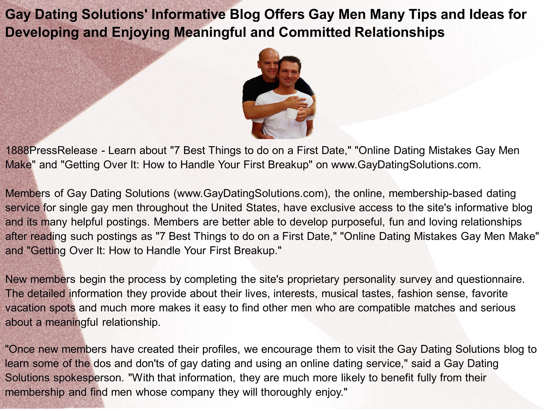 Gay dating tips